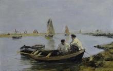 Eugène Louis Boudin, L'estuario | The estuary