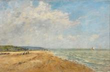 Eugène Louis Boudin, La marea montante (baia di Saint Valery | La marée montante (baie de Saint-Valéry | Rising Tide (bay of Saint-Valéry