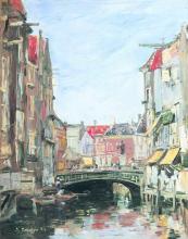 Boudin, La piazza Ary Scheffer, Dordrecht.png