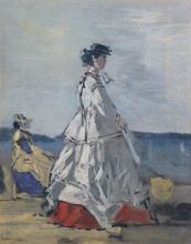 Boudin, La principessa Pauline Metternich sulla spiaggia | Princess Pauline Metternich (1836–1921) on the Beach