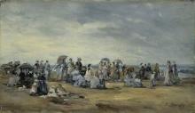 Boudin, La spiaggia a Trouville [1873].jpg