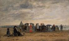 Boudin, La spiaggia di Trouville [1868].jpg