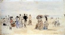 Boudin, La spiaggia di Trouville [1869].jpg
