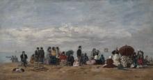 Boudin, La spiaggia di Trouville [1871].png