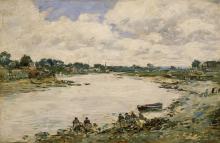 Boudin, Lavandaie sulle rive della Touques | Lavandières sur les rives de la Touques | Washerwomen on the banks of the Touques