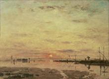 Boudin, Le Havre. Tramonto sulla riva, bassa marea.jpg