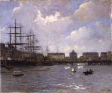 Eugène Louis Boudin, Marina e porto