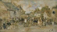 Boudin, Mercato di villaggio.jpg