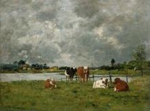 Boudin, Mucche in un campo sotto un cielo tempestoso.jpg