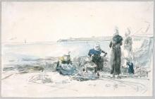 Boudin, Pescatrici in Bretagna.jpg