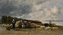 Boudin, Plougastel: pescatrici di gamberi | Plougastel: pêcheuses de crevettes | Plougastel: shrimp fisherwomen