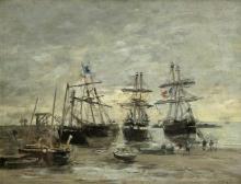 Boudin, Portrieux. Il porto, bassa marea.jpg