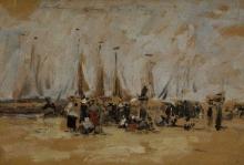 Boudin, Scena di spiaggia (forse Harfleur).jpg