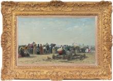 Boudin, Scena di spiaggia a Trouville [1870][cornice].jpeg