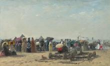 Boudin, Scena di spiaggia a Trouville [1870].jpg