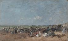 Boudin, Scena di spiaggia a Trouville [1870-1874 circa].png