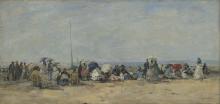 Boudin, Scena di spiaggia, Trouville [1860-1870 circa].png