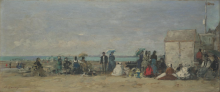Boudin, Scena di spiaggia, Trouville [1870-1874 circa].png