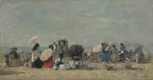 Boudin, Scena di spiaggia, Trouville [1873].png