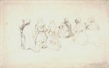 Boudin, Sette donne bretoni in ginocchio.jpg