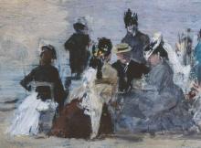 Boudin, Spiaggia di Trouville [1875][dettaglio].png