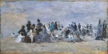 Boudin, Spiaggia di Trouville [1875].jpg