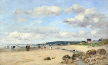 Eugène Louis Boudin, Spiaggia in Normandia, Francia | Plage en Normandie, France | Beach in Normandy, France