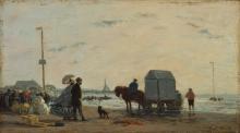 Boudin, Sulla spiaggia a Trouville [1863].jpg