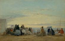 Boudin, Sulla spiaggia, tramonto.jpg
