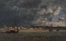 Boudin, Temporale su Anversa | Tempête sur Anvers | Storm over Antwerp