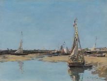 Eugène Louis Boudin, Trouville, i moli bassa marea | Trouville, les jetées marée basse