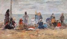 Boudin, Trouville, scena di spiaggia | Trouville, scène de plage | Trouville, beach scene