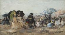 Boudin, Trouville, scena di spiaggia [1886].jpg
