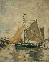 Boudin, Una barca da pesca, Trouville | Un bateau de pêche, Trouville | A fishing boat, Trouville