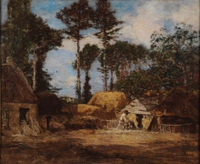 Eugène Louis Boudin, Una fattoria bretone   Une ferme bretonne   A Breton farm