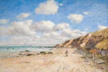 Boudin, Una spiaggia presso Trouville [1895].png