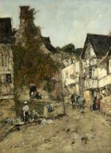 Boudin, Una strada di Caudebec.jpg