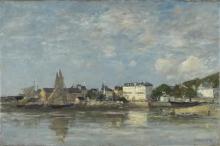 Boudin, Veduta del porto di Trouville   Vue du port de Trouville   View of the harbour of Trouville