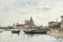 Boudin, Venezia, Santa Maria della Salute e la Dogana viste dal Canal Grande | Venice: Santa Maria della Salute and the Dogana seen from across the Grand Canal