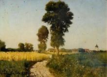Jules Breton, Paesaggio, Courrieres, Francia   Paysage, Courrières, France   Landscape, Courrières, France