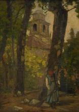 Stefano Bruzzi (attribuito a), La raccolta delle foglie