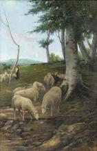 Stefano Bruzzi, Abbeverata presso la sorgente dei Lamoni