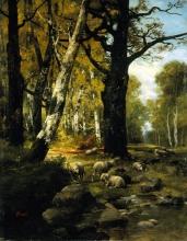 Stefano Bruzzi, Gregge a riposo nel bosco