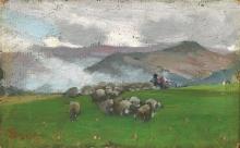 Stefano Bruzzi, Paesaggio montano con gregge