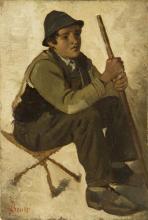 Stefano Bruzzi, Pastorello seduto