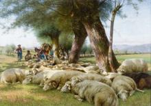 Stefano Bruzzi, Siesta (Pecore al riposo)