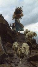 Stefano Bruzzi, Una pastorella con il suo gregge