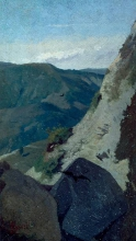 Stefano Bruzzi, Veduta di montagne