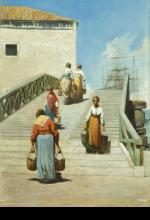 Cabianca, Donne sul ponte a Venezia.png