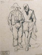 Cabianca, Due pescatori in cammino.jpg